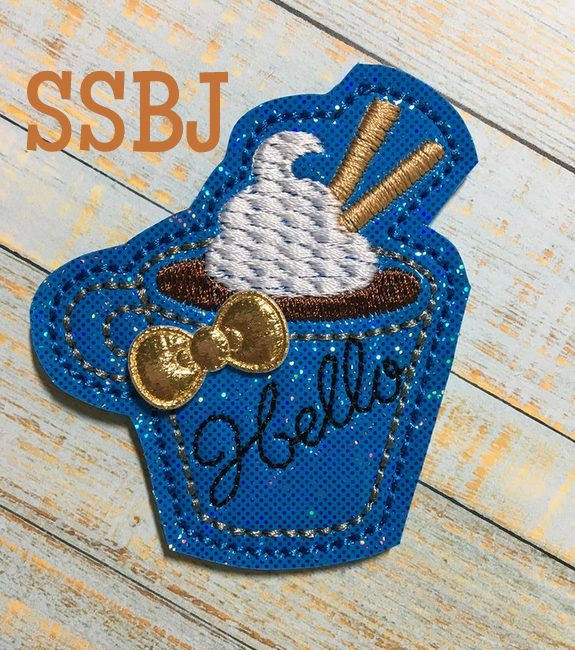 SSBJ Hello Coffee Cup Embroidery File
