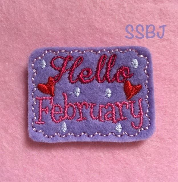 SSBJ Hello February Embroidery File