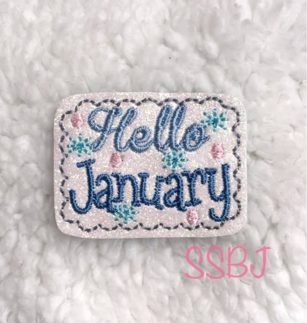 SSBJ Hello January Embroidery File