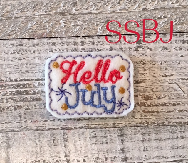 SSBJ Hello July Embroidery File