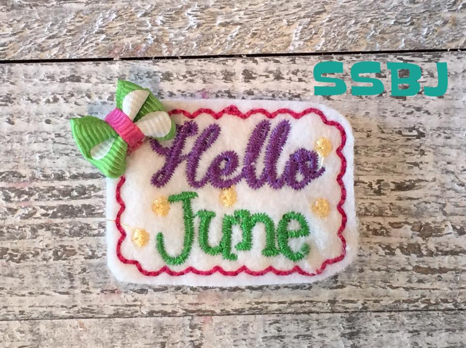 SSBJ Hello June Embroidery File