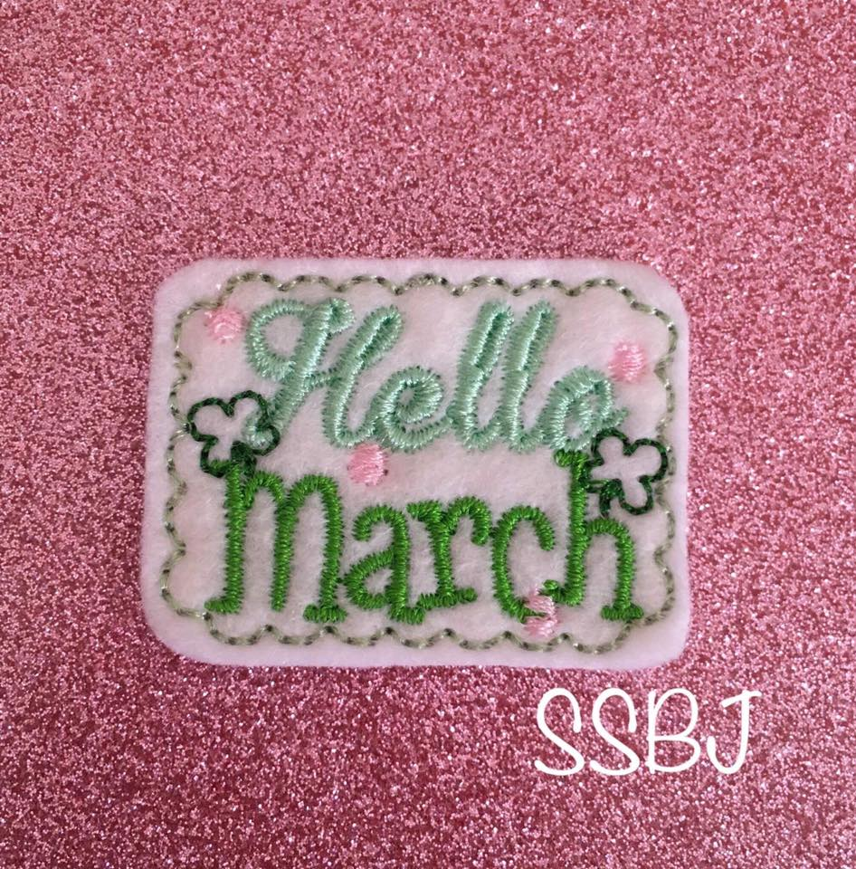 SSBJ Hello March  Embroidery File