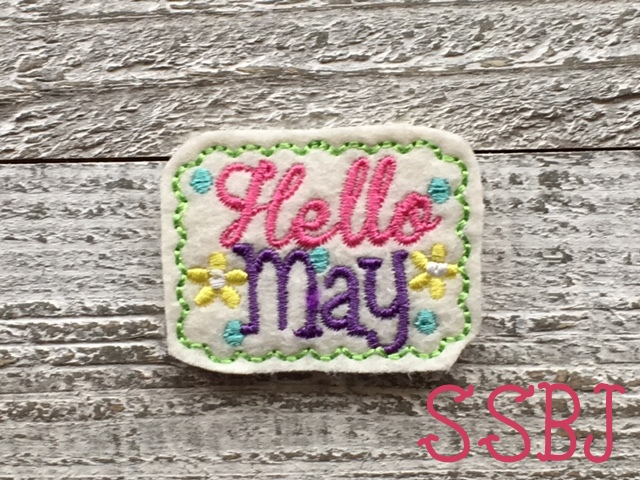 SSBJ Hello May Embroidery File