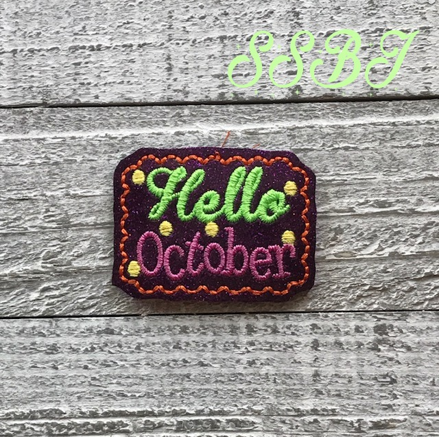 SSBJ Hello October Embroidery File