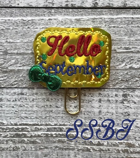 SSBJ Hello September Embroidery File