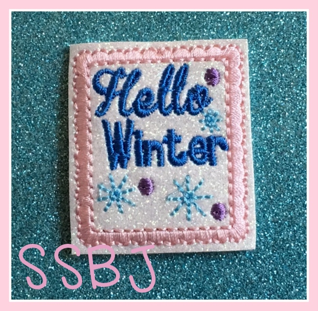 SSBJ Hello Winter Embroidery File