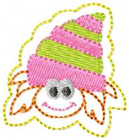 Hermit Crab Embroidery File