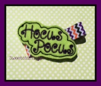 Hocus Pocus Embroidery File