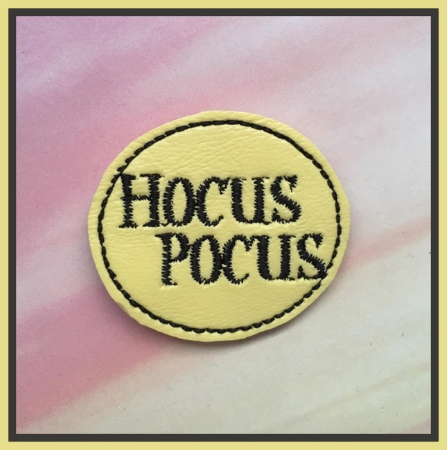 Hocus Pocus Banner Embroidery File