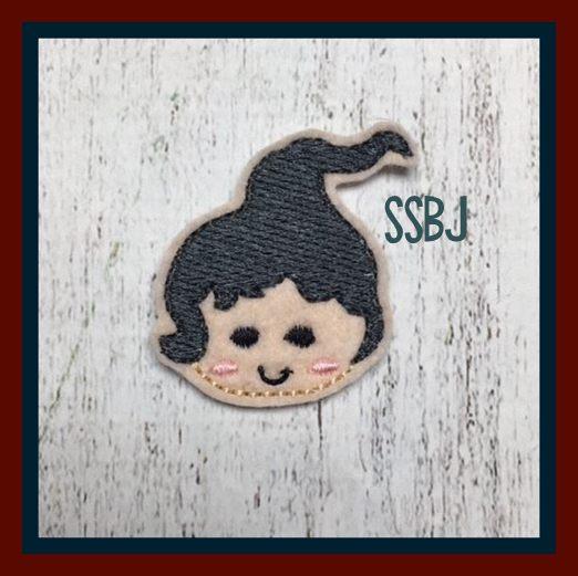 Hocus Pocus Girl 3 FACE Lantern  Embroidery File
