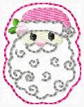 Holly Santa Embroidery File