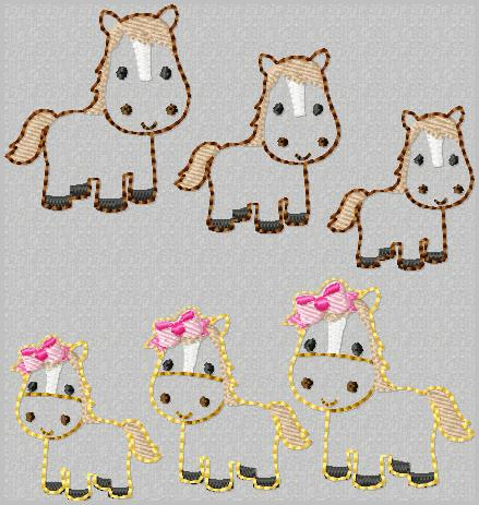 LBS Horse Embroidery File