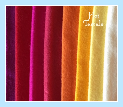 Hot Tamale 8x8 Wool Felt Bundle