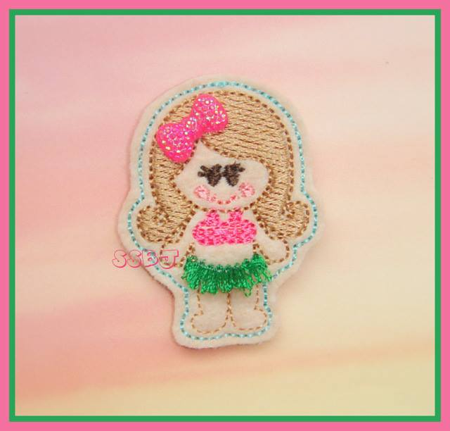 Luau Girl Embroidery File