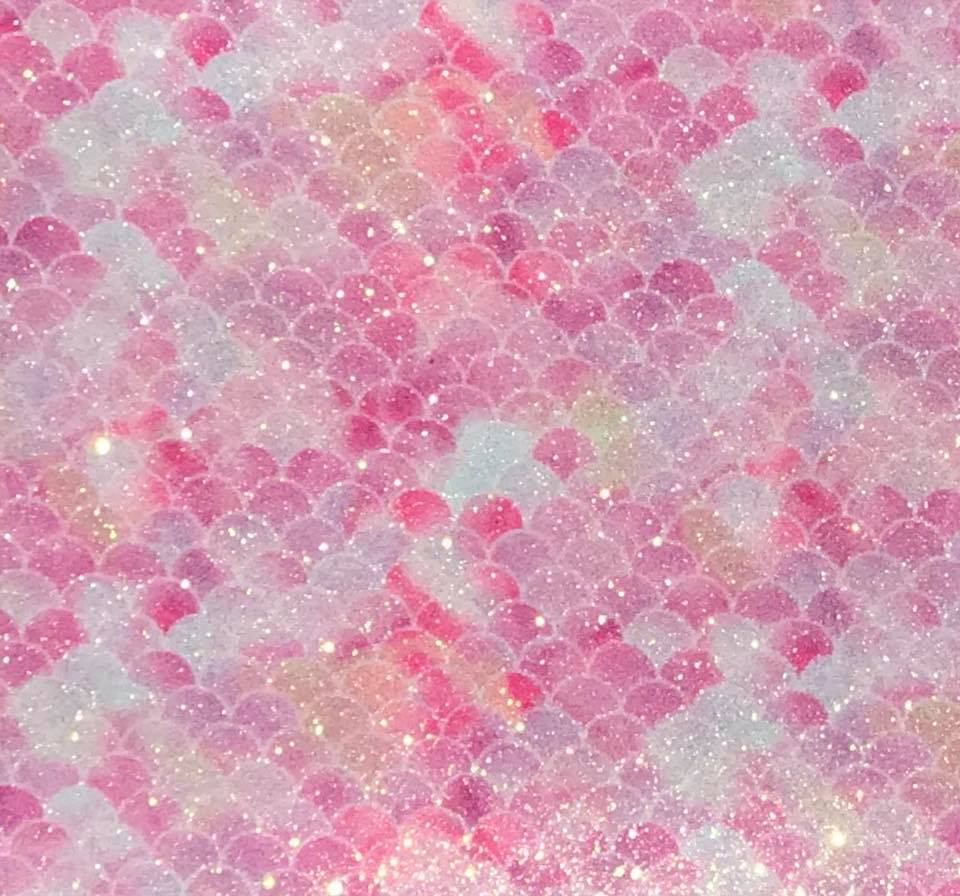 Mermaid Garden Pink Galaxy Embroidery Vinyl