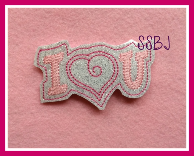 I Heart U Embroidery File