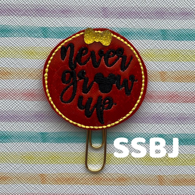 SSBJ Never Grow Up Embroidery File