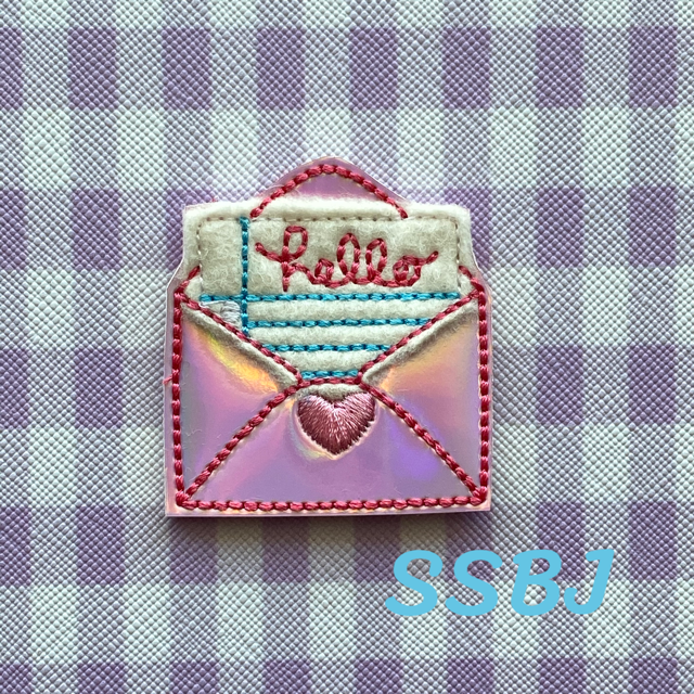 SSBJ Hello Letter Applique Embroidery File