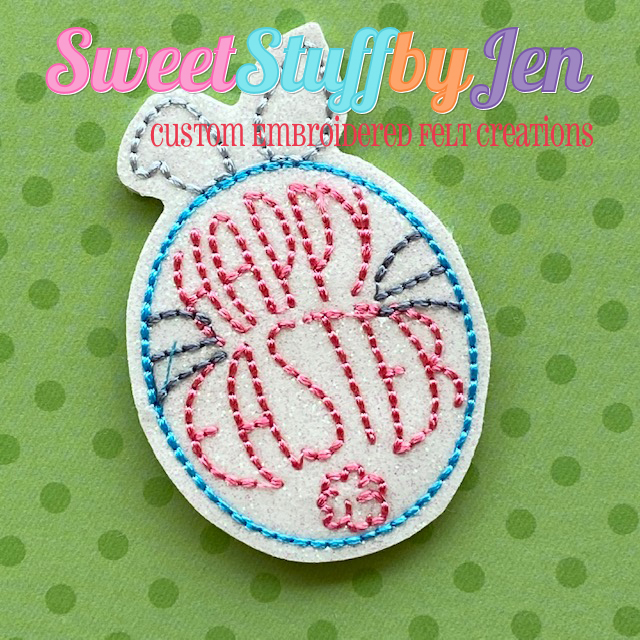 SSBJ Happy Easter Bunny Embroidery File