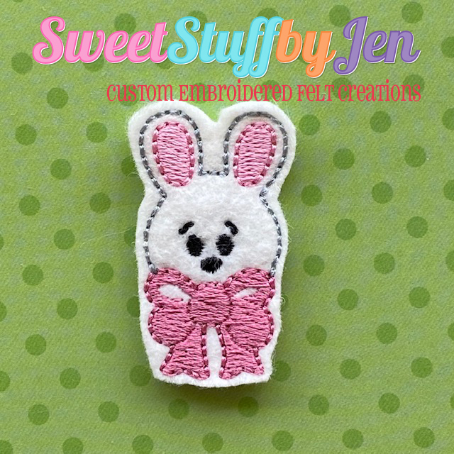 SSBJ Easter Bunny Bow Embroidery File