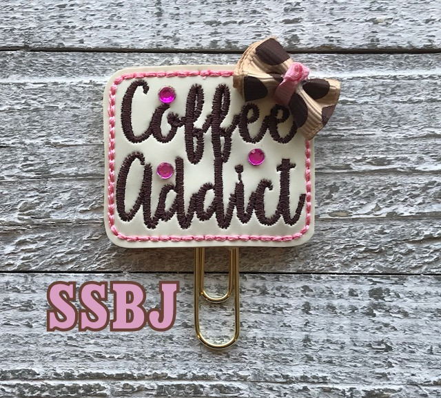 SSBJ Coffee Addict Embroidery File