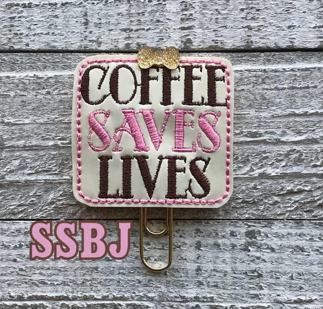 SSBJ Coffee Saves Lives Embroidery File