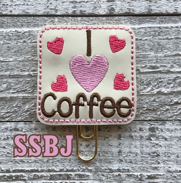 SSBJ I Heart Coffee  Embroidery File