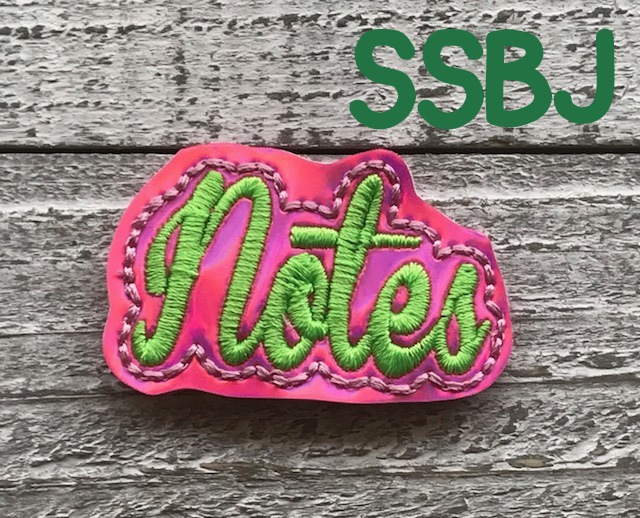 SSBJ Notes Planner Clip Embroidery File
