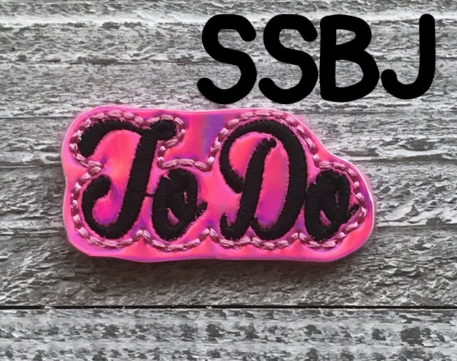 SSBJ To Do Planner Clip & Feltie Embroidery File
