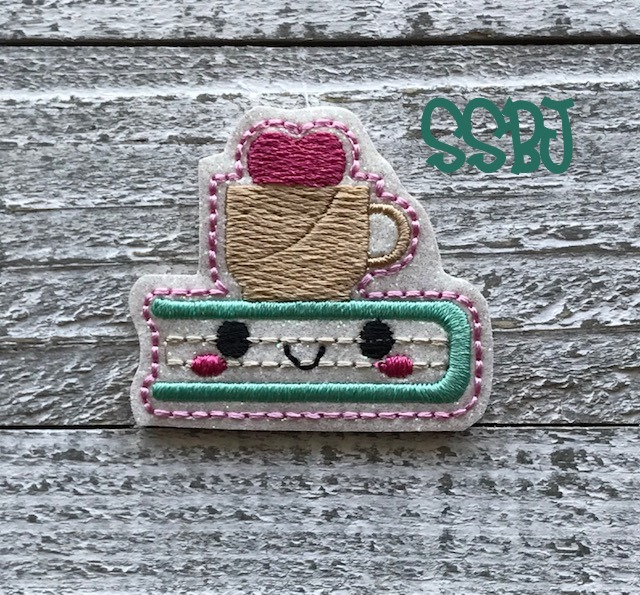 SSBJ Coffee Cup on A Book Embroidery File