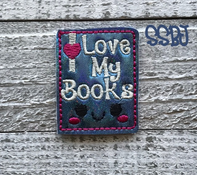 SSBJ LOVE My Books Embroidery File