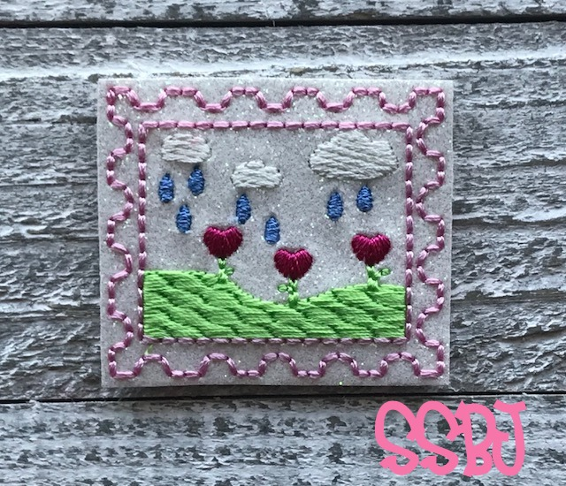 SSBJ Stamp Series-April  Embroidery File