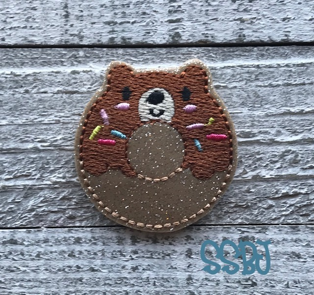 SSBJ Bear Donut Embroidery File