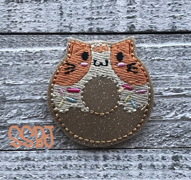 SSBJ Calico Cat Donut Embroidery File