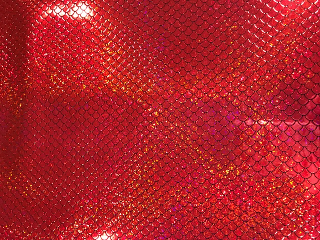 Mystical Mermaid Scale Bright Red Embroidery Vinyl