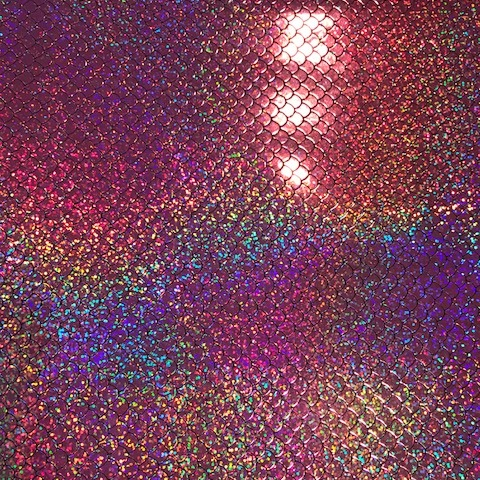 Mystical Mermaid Scale Light Pink Embroidery Vinyl
