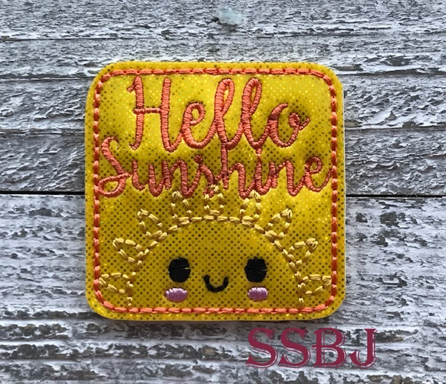 SSBJ Hello Sunshine Sun Embroidery File