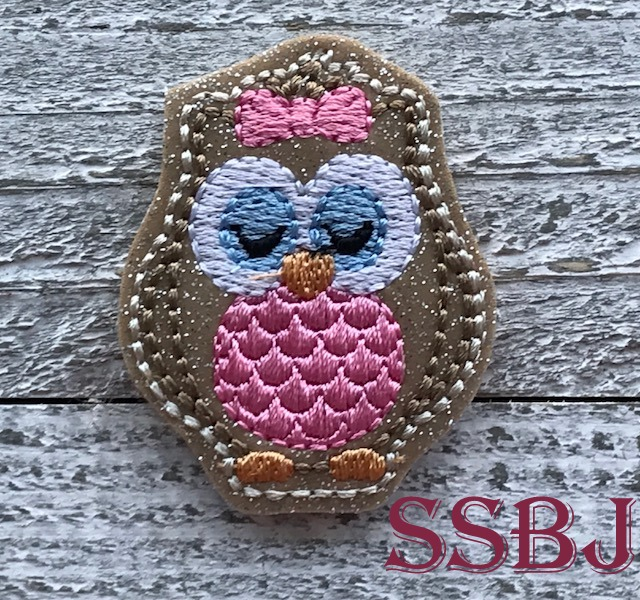 SSBJ Baby Owl Embroidery File
