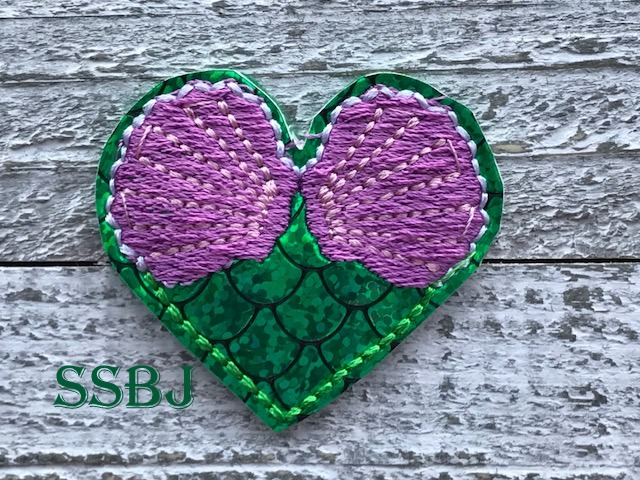 SSBJ Mermaid Heart Embroidery File