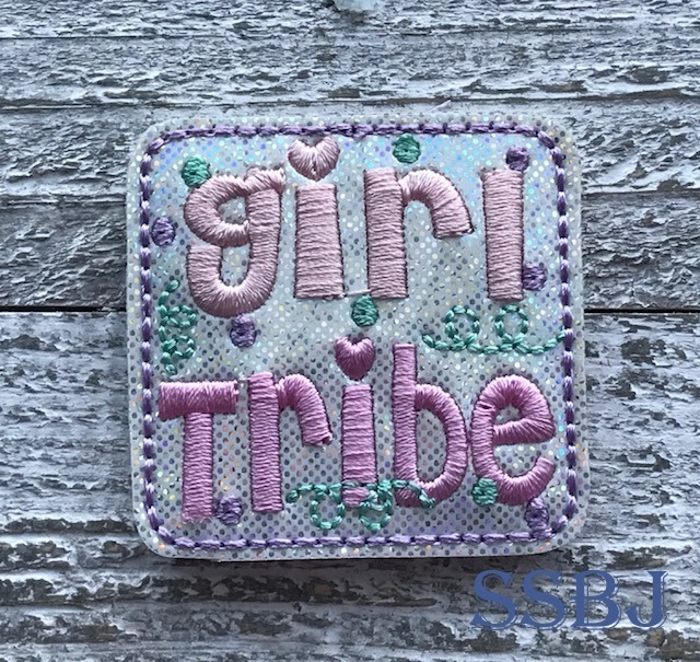 SSBJ Girl Tribe Swirl Embroidery File