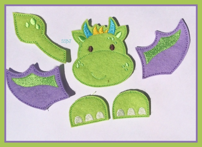 Dragon Parts Embroidery File