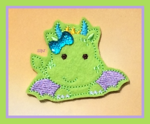Peeking Dragon Embroidery File
