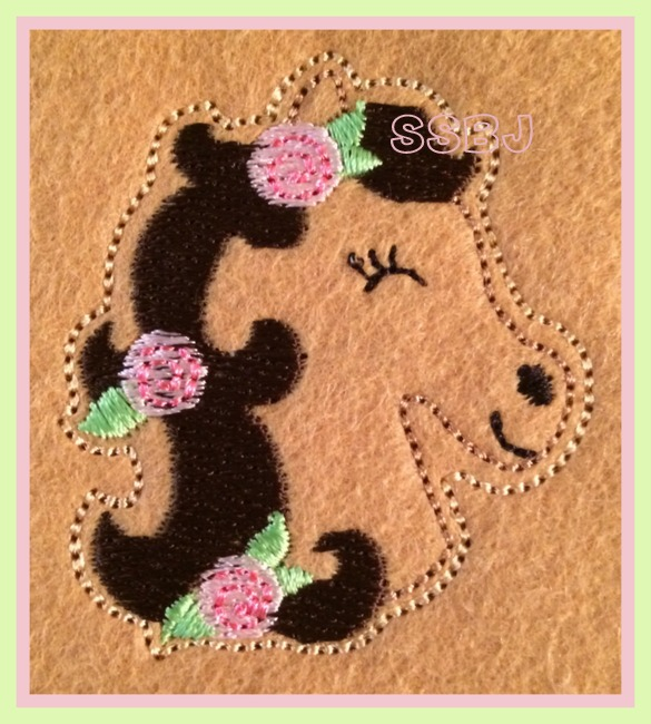 Derby Horse Embroidery File