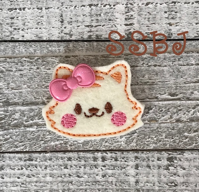 SSBJ Animal Friends Kitty Embroidery File