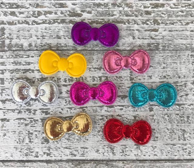 Hello Kitty Inspired Padded Bow-Metallic
