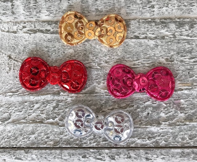 Hello Kitty Inspired Padded Bow-Sequin
