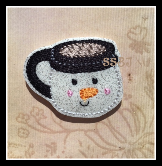 SSBJ Snowman Mug Embroidery File
