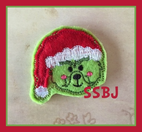SSBJ Grinch 2 Embroidery File
