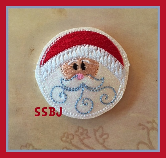 SSBJ Santa Button Embroidery File