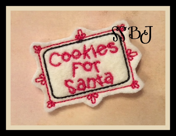 Cookies for Santa Embroidery File